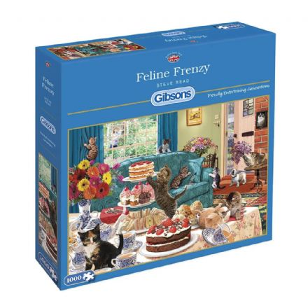 Feline Frenzy by Steve Read 1000 Piece Gibsons Jigsaw